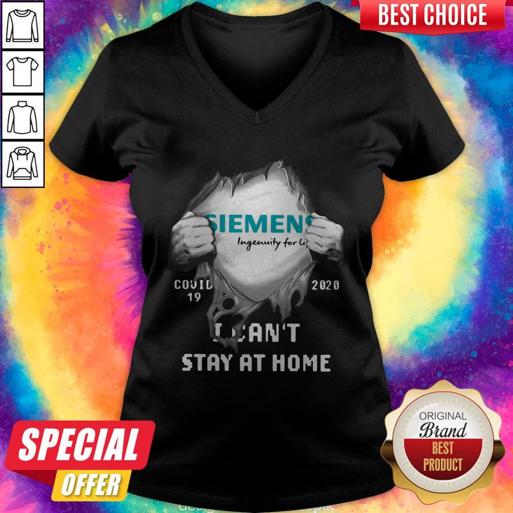 Funny Siemens Inside Me Covid-19 2020 I Can't Stay At Home V-neck