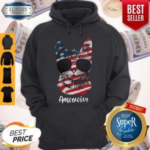 Good Ameowica Cat American Flag Hoodie