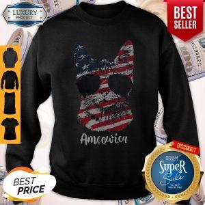Good Ameowica Cat American Flag Sweatshirt