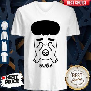 Good Fanstown Bts Bangtan Boy Same Cartoon Suga V-neck