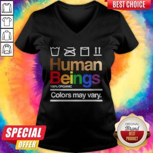 Good Human Beings 100′ Organic Colors May Vary V-neck