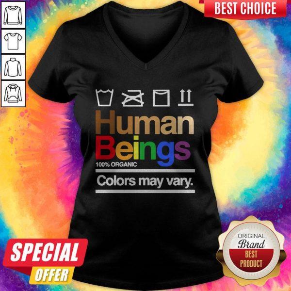 Good Human Beings 100′ Organic Colors May Vary V-neck