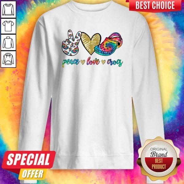 Good Peace Love Crocs Sweatshirt
