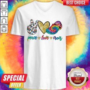 Good Peace Love Crocs V-neck