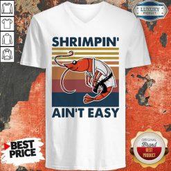 Good Shrimpin Ain't Easy Vintage V-neck