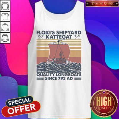 Nice Floki's Shipyard Kattegat Quality Longboats Since 793 Ad-Vintage Tank Top
