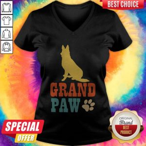 Nice Grand Paw Dog V-neck