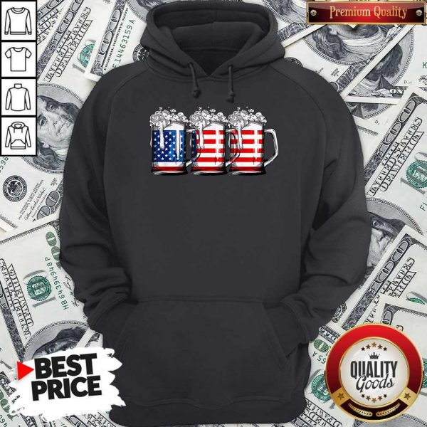 Official Beer America Happy Independence Day Hoodie