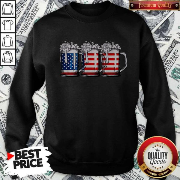 Official Beer America Happy Independence Day Sweatshirt
