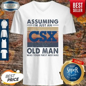 Official CSX Corporation Assuming I'm Just An Old Man Was Your First Mistake Vintage V-neck
