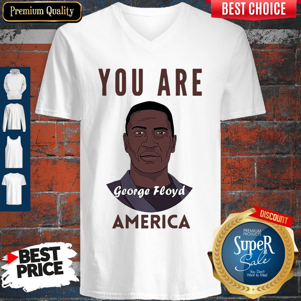 Official George Floyd You Are America V-neck