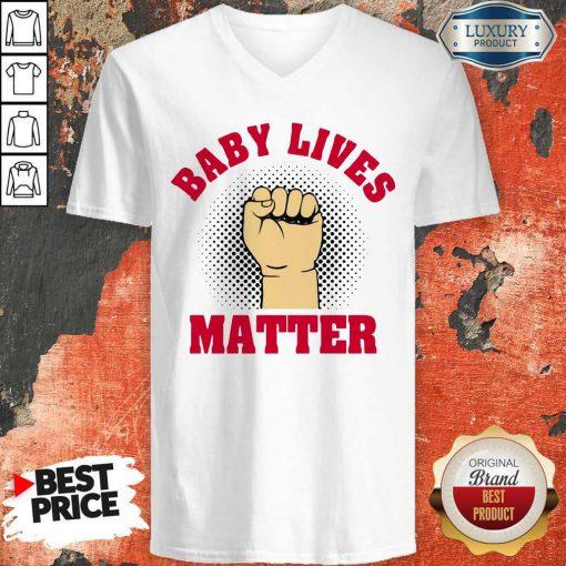 Official Strong Hand Baby Lives Matter V-neck