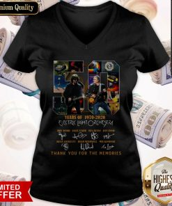 Original 50 Years Of 1970 2020 Electric Light Orchestra Thank You For The Memories V-neck
