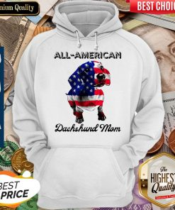 Original All American Dachshund Mom American Flag Hoodie
