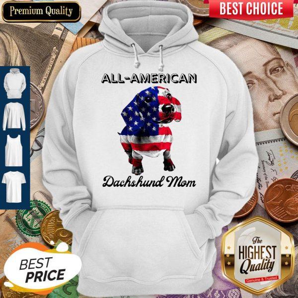 Original All American Dachshund Mom American Flag Hoodie
