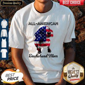 Original All American Dachshund Mom American Flag Shirt