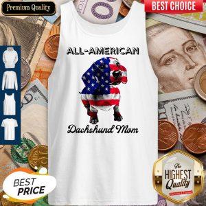 Original All American Dachshund Mom American Flag Tank Top