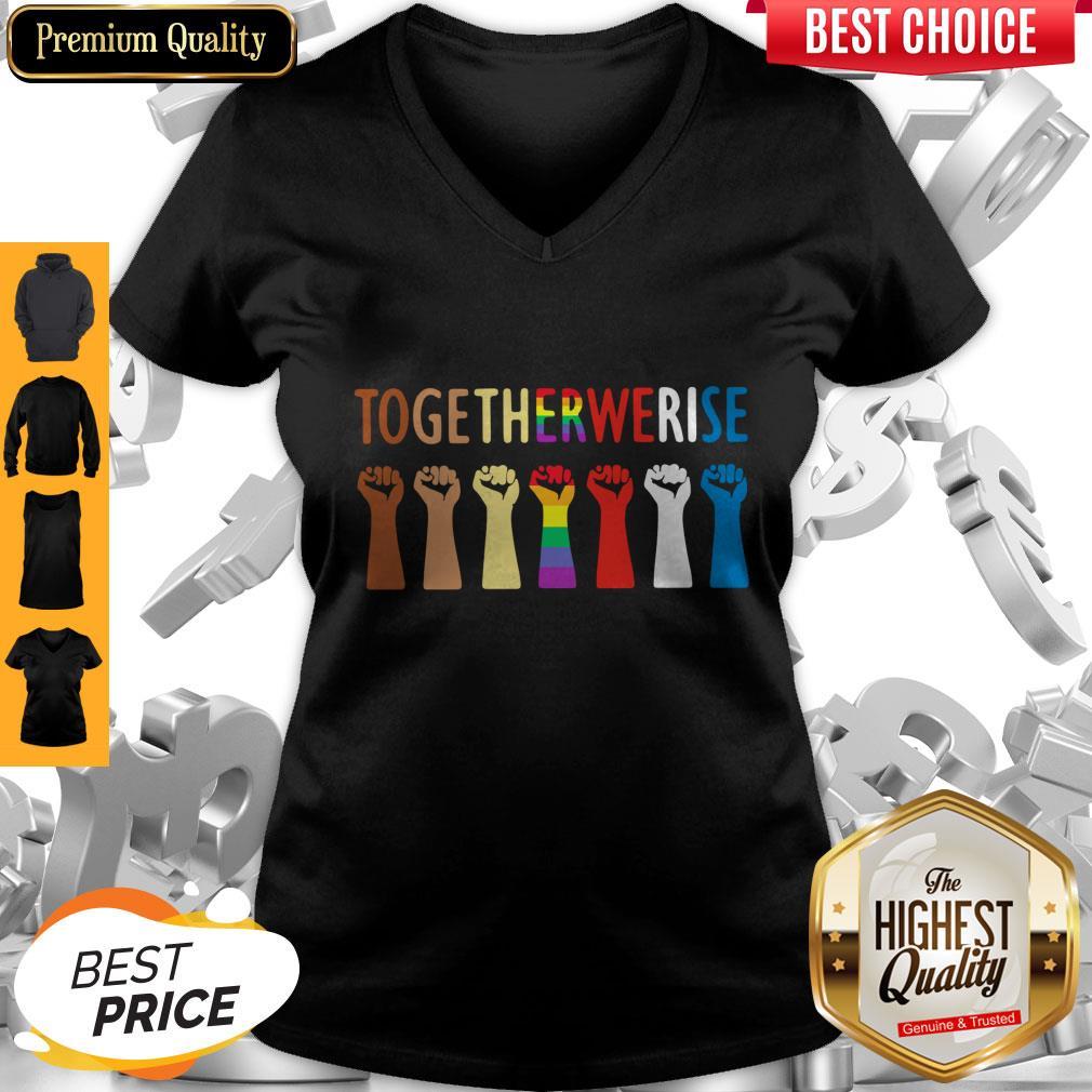 Original LGBT Together We Rise V-neck