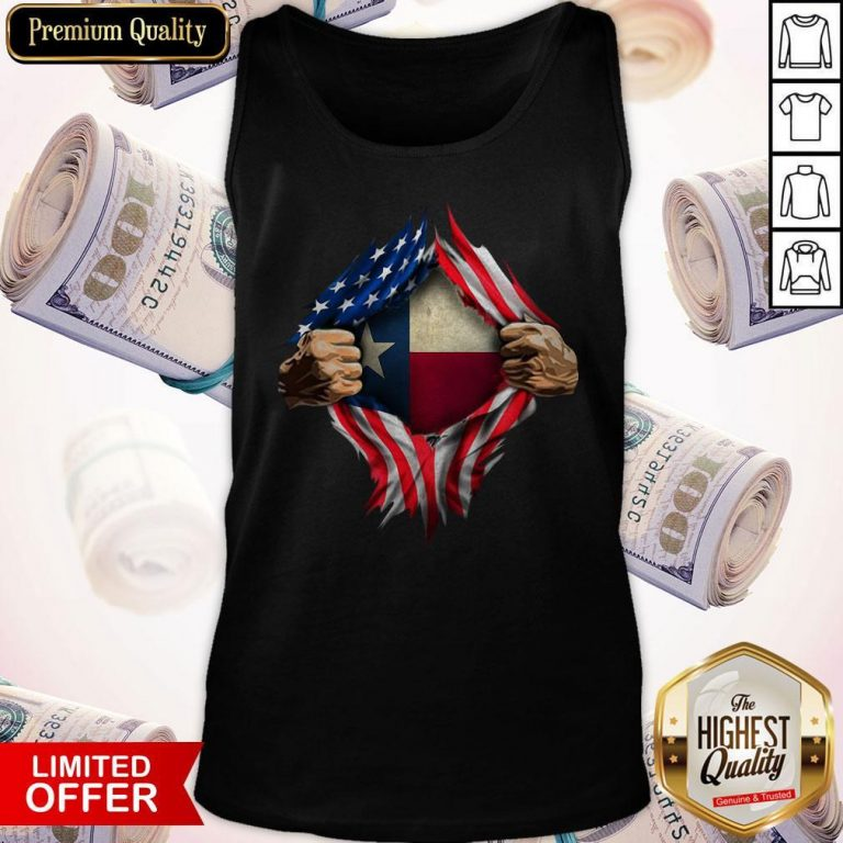 Perfect American Flag Texas Proud Inside Me Tank Top
