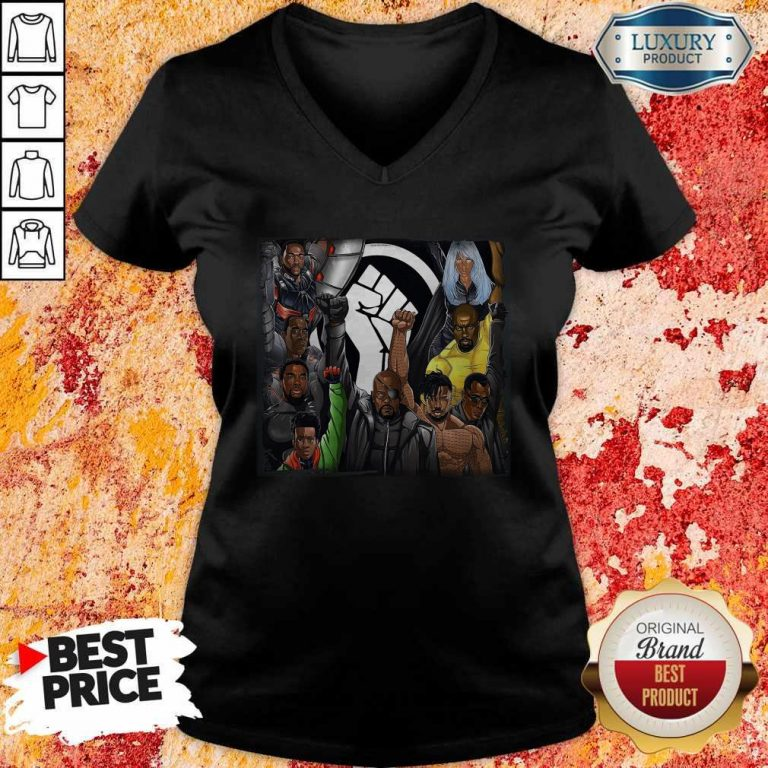 Perfect Black Panther Appreciation 2020 Strong Hand V-neck