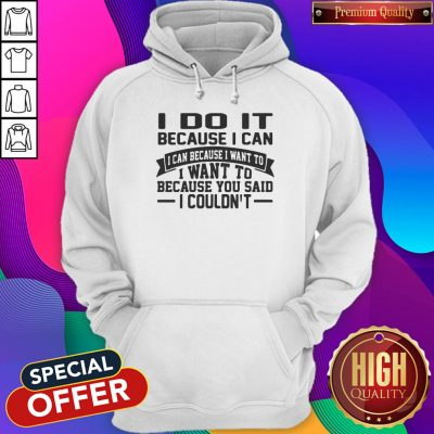 Perfect I Do It It Because I Can I Can Because I Want To I Want To Because You Said I Couldn't Hoodie