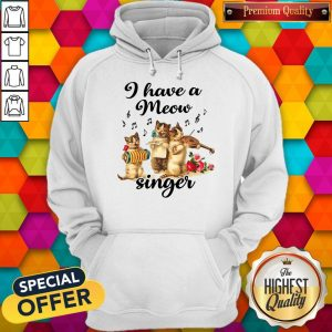 Perfect I Have A Meow Singer Hoodie