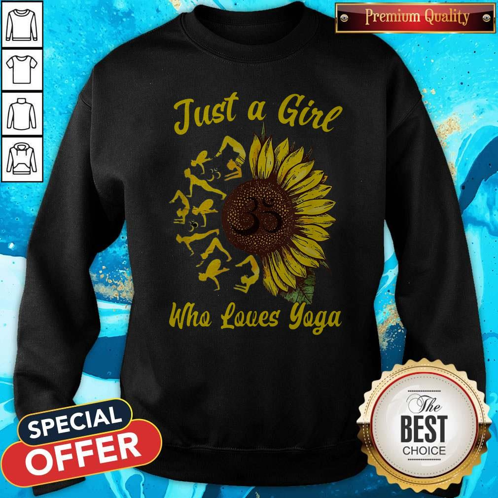 Just A Girl Who Loves Sunflowers Adult Crewneck Sweatshirt