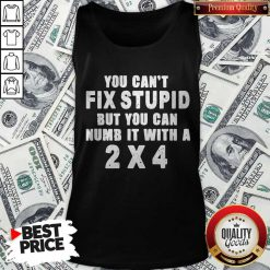 Perfect You Can't Fix Stupid But You Can Numb It With A 2×4 Tank Top