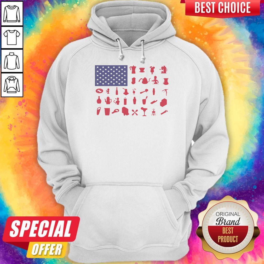 Premium Bartender American Flag Hoodie