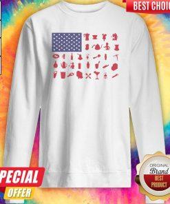 Premium Bartender American Flag Sweatshirt
