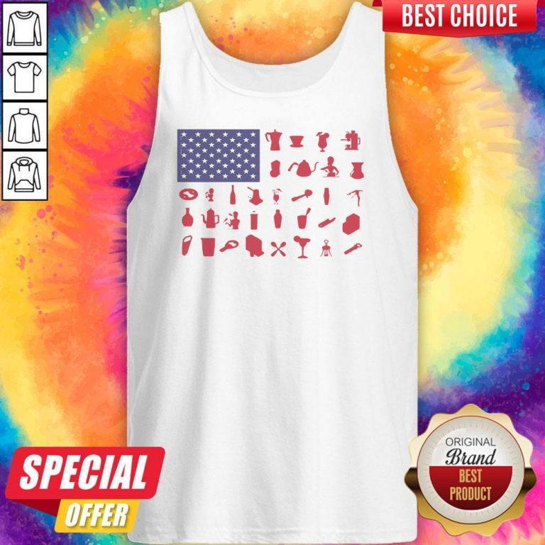 Premium Bartender American Flag Tank Top