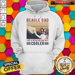 Premium Beagle Dad Like A Regular Dad But Cooler Happy Father's Day Vintage Hoodie
