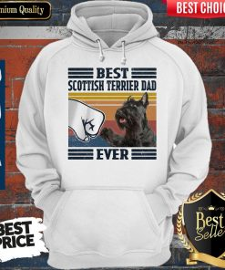Premium Best Scottish Terrier Dad Ever Vintage Hoodie