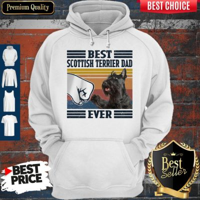 Premium Best Scottish Terrier Dad Ever Vintage Hoodie