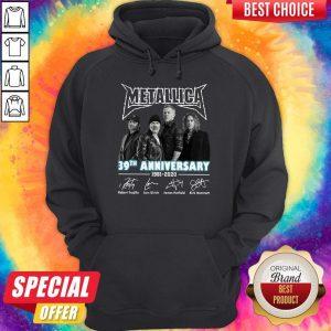 Premium Metallica 39th Anniversary 1981 2020 Signatures Hoodie