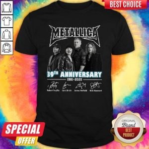 Premium Metallica 39th Anniversary 1981 2020 Signatures Shirt