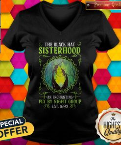 Premium The Black Hat Sisterhood Fly By Night Group Est Classic V-neck