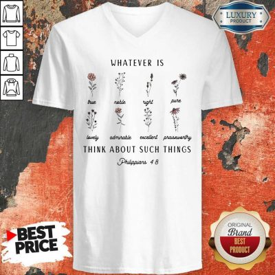 Premium Whatever Is Think About Such Things V-neck