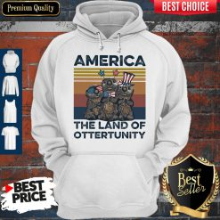 Pretty America The Land Of Otter Unity Independence Day Vintage Hoodie