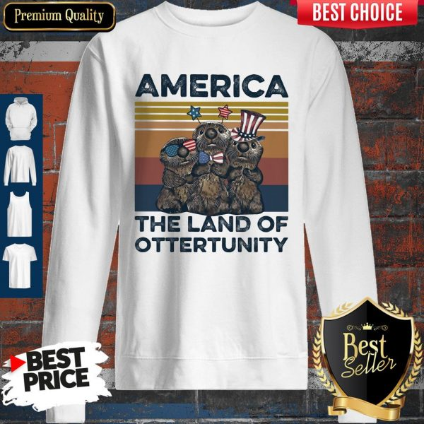 Pretty America The Land Of Otter Unity Independence Day Vintage Sweatshirt