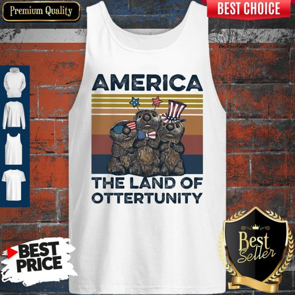 Pretty America The Land Of Otter Unity Independence Day Vintage Tank Top