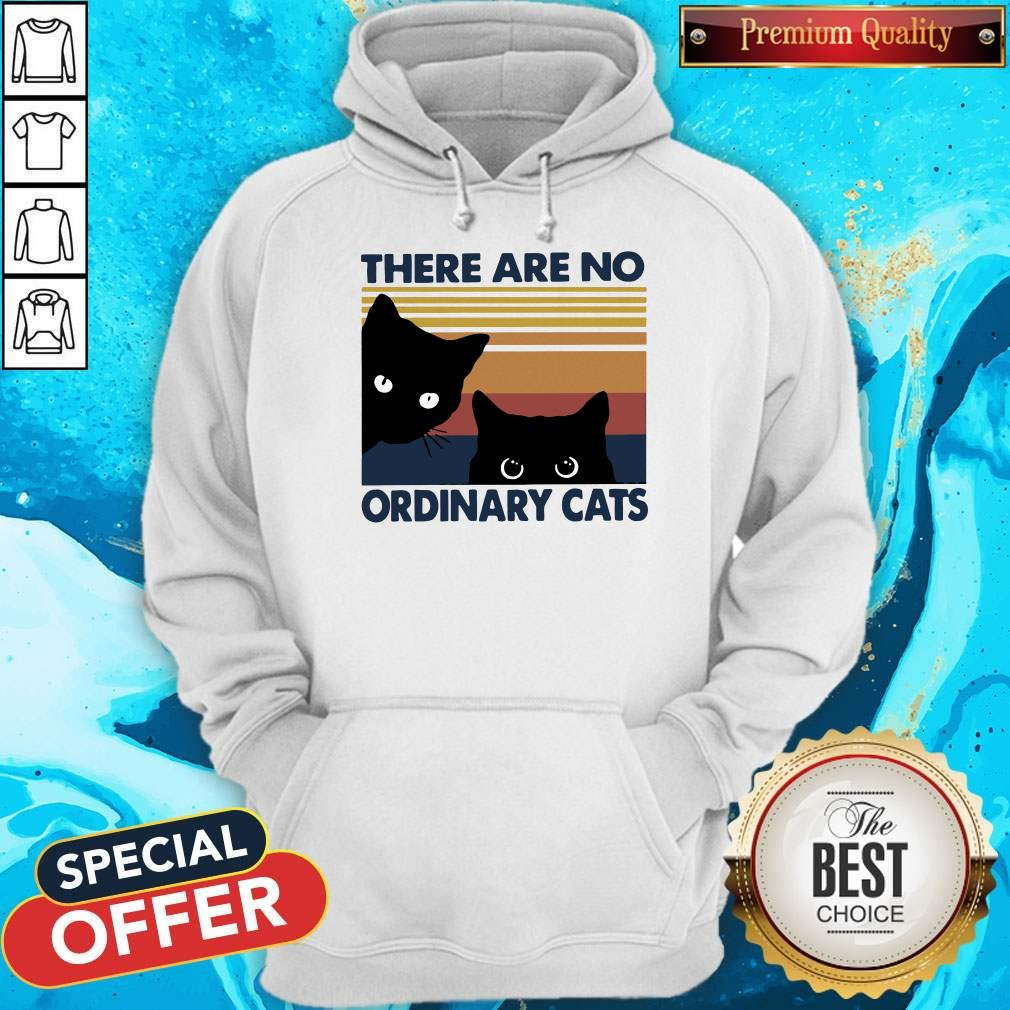 Pretty Black Cats There Are No Ordinary Cats Vintage Hoodie