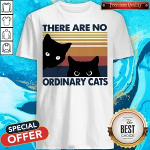 Pretty Black Cats There Are No Ordinary Cats Vintage Shirt