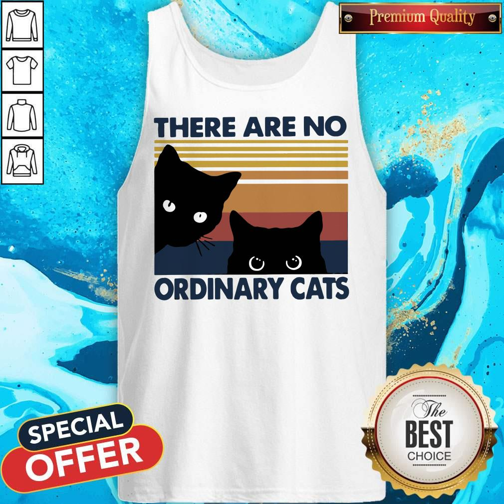 Pretty Black Cats There Are No Ordinary Cats Vintage Tank Top