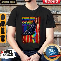 Pretty LGBT Pride 2020 American Flag Shirt