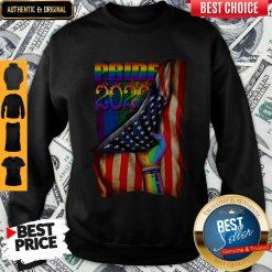 Pretty LGBT Pride 2020 American Flag Sweatshirt