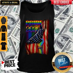 Pretty LGBT Pride 2020 American Flag Tank Top