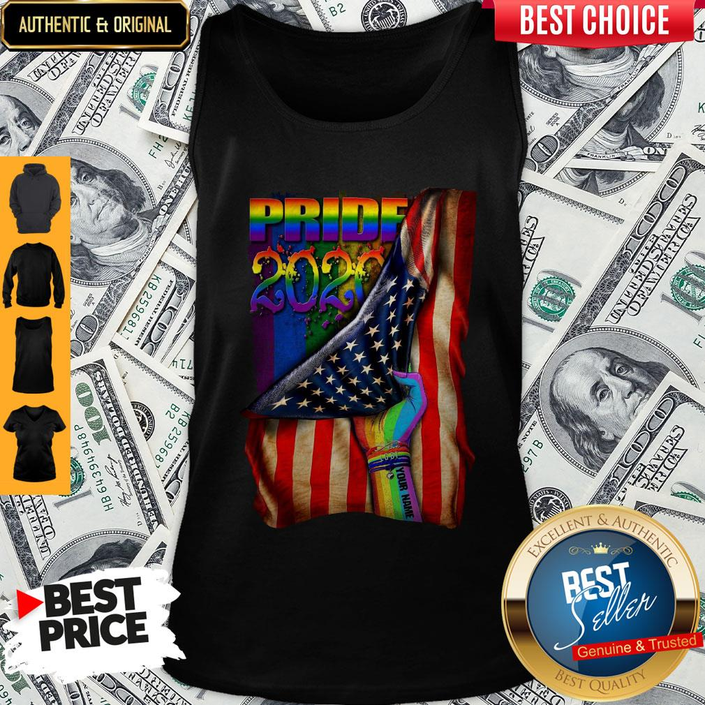 Pretty LGBT Pride 2020 American Flag Tank Top
