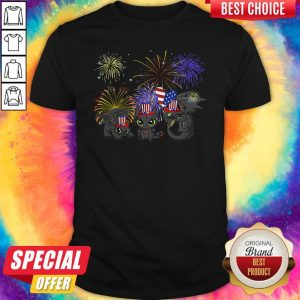 Pretty Night Fury American Flag 4th Of July Independence Day Shirt