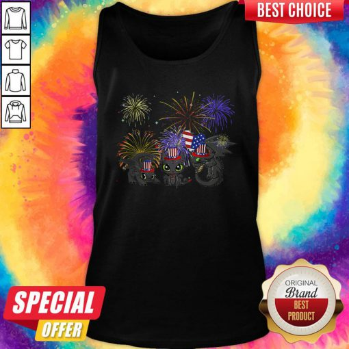 Pretty Night Fury American Flag 4th Of July Independence Day Tank Top